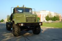 Right hand drive KrAZ-6322 are transfered to customer