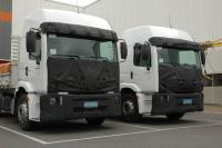 Prototypes of new Volkswagen Contellation trucks have been photographed in Brazil