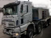 The first shoot of construction version of Mercedes-Benz Actros