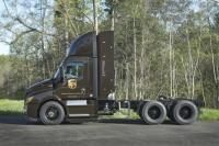 Freightliner showcased Cascadia CNG trucks
