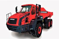 Doosan unveils updated DA30-5 articulated truck with new suspensions and improved cab