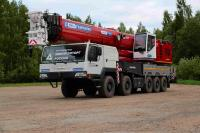 MZKT developed the 10x10 chassis for a 100-ton crane