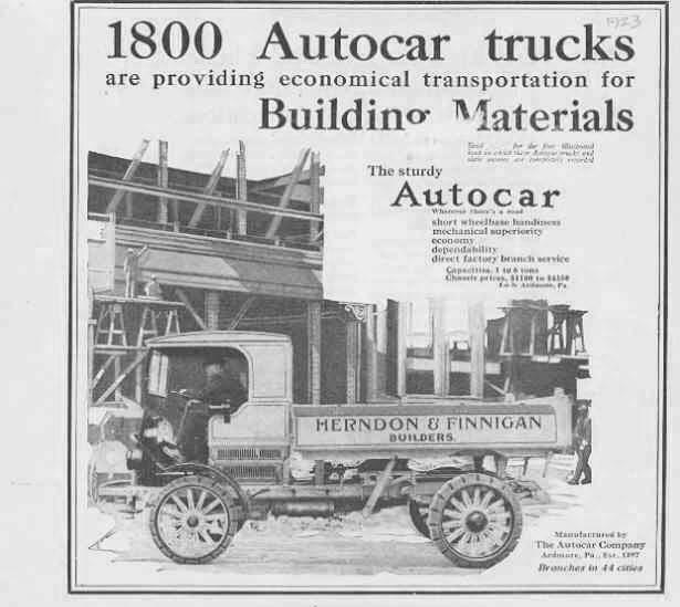 Autocar Type XXI / XXVI / XXVII (Commercial vehicles