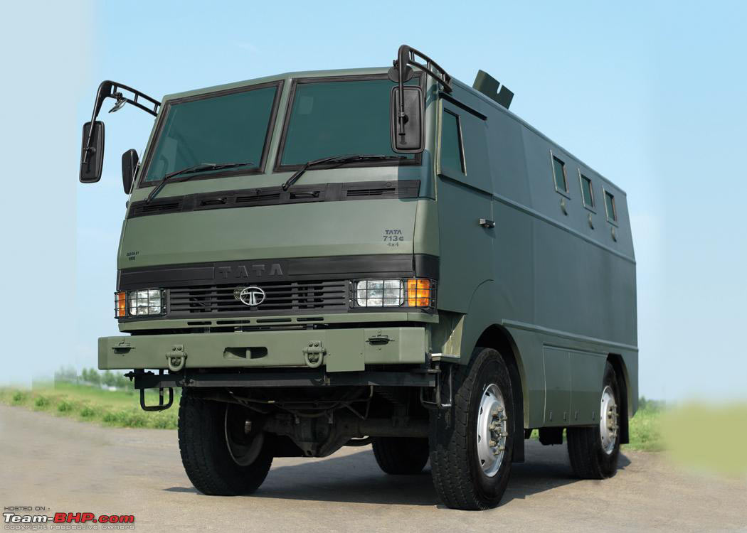 Tata mobile bunker military vehicles trucksplanet for Planet motors on military